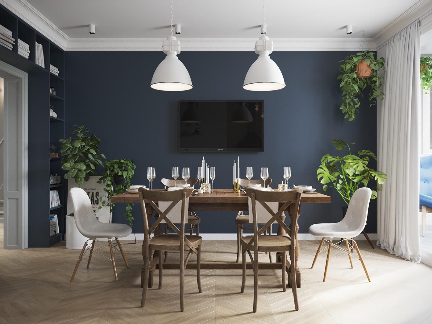 Une salle manger d pareill e avec la table et chaises en - Table de salle a manger avec chaises ...
