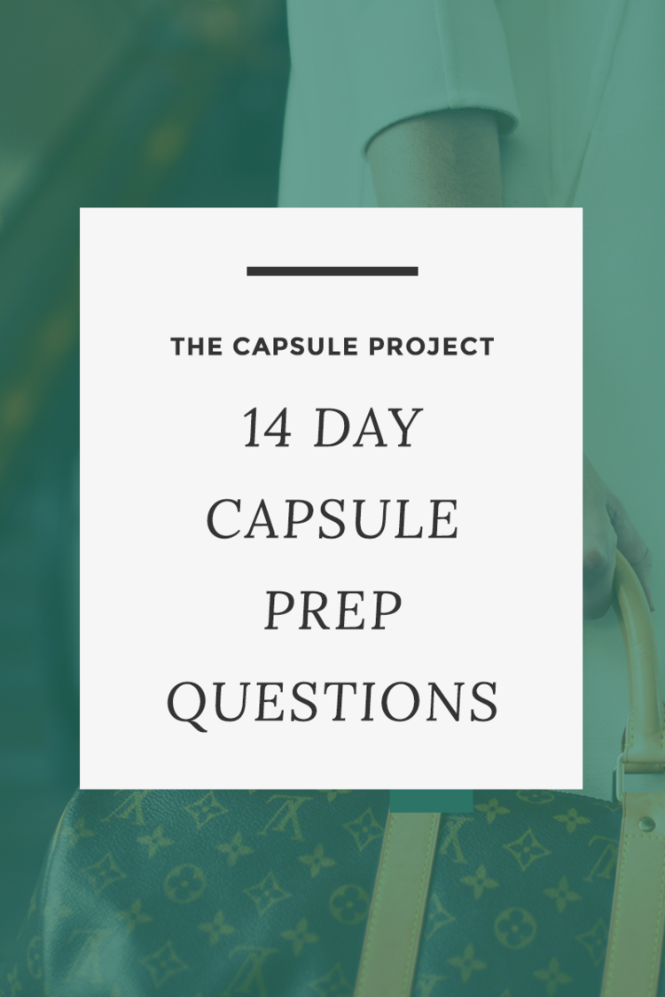 Getting ready to plan your 14-day capsule wardrobe? Answer these questions first to make sure you're planning well. FREE printable
