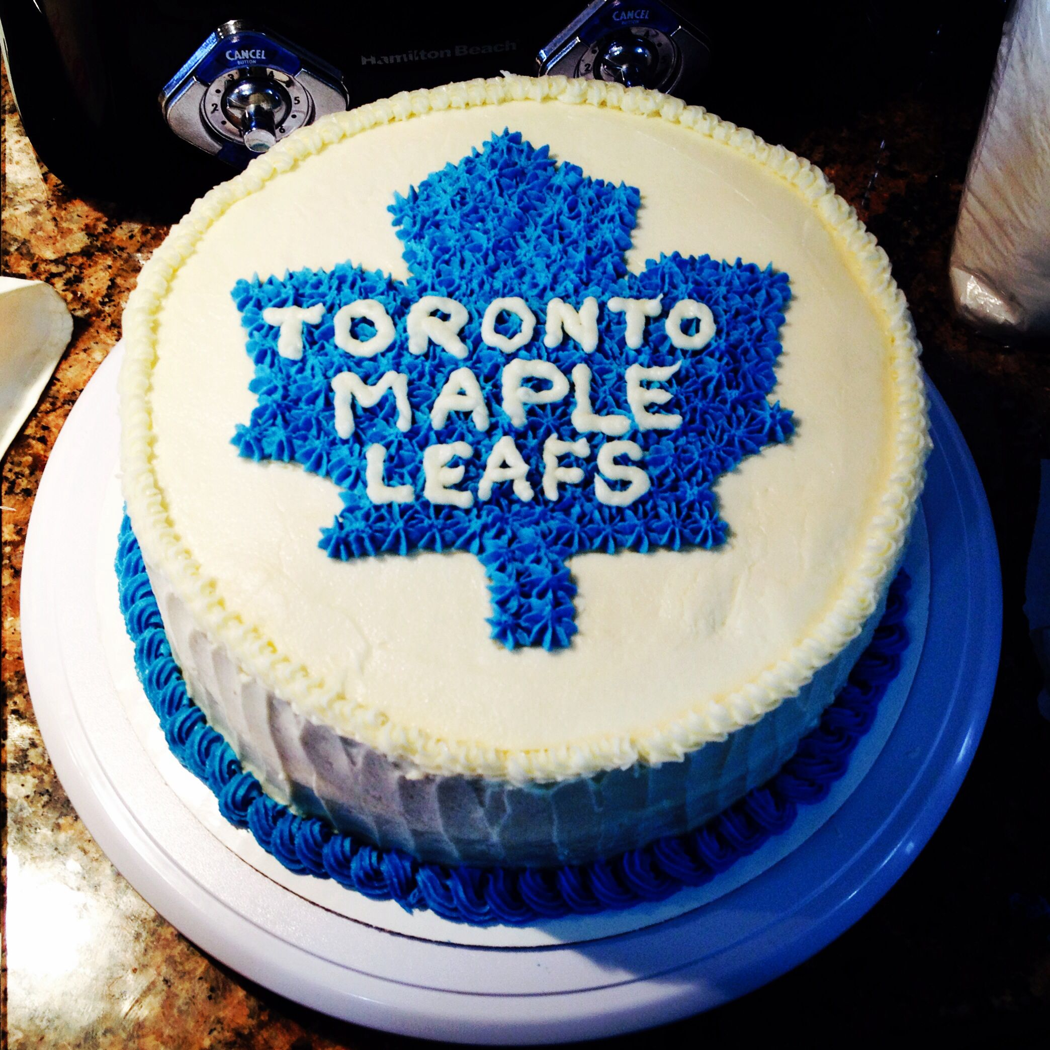 Happy Birthday Toronto Maple Leaf Cake