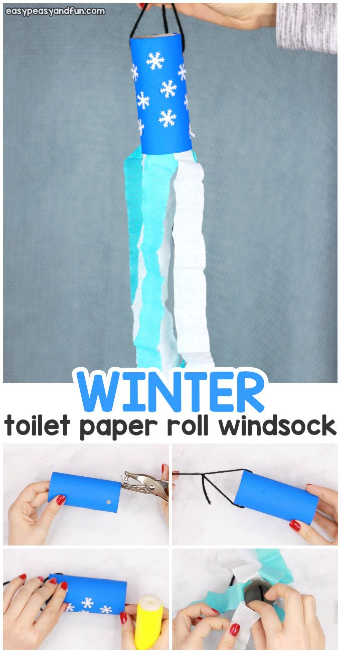 Winter Windsock Toilet Paper Roll Craft Easy Peasy And