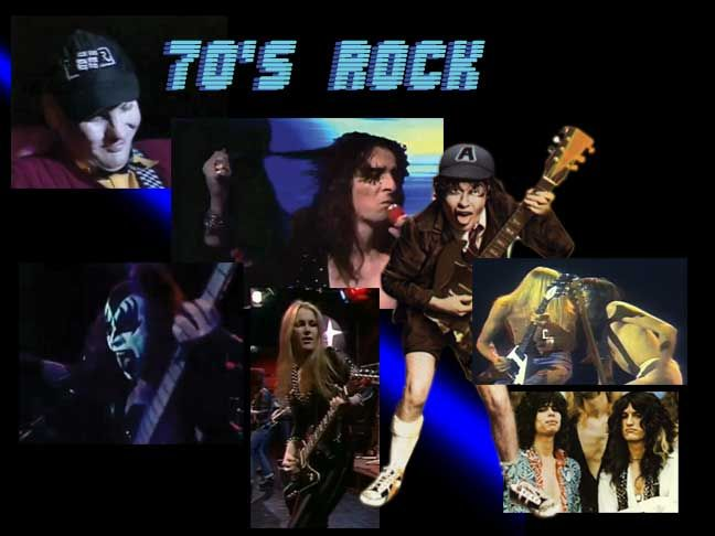 Angus Young Of Ac Dc Alice Cooper The Runaways Rick Neilsen Of