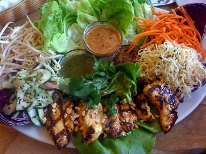 The Cheesecake Factory™ Lettuce Wraps Recipe marinated the chicken ...