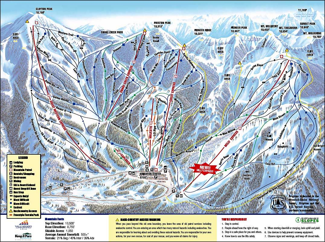 Brighton Ski Resort | Brighton Ski Resort, Brighton, Utah | snow