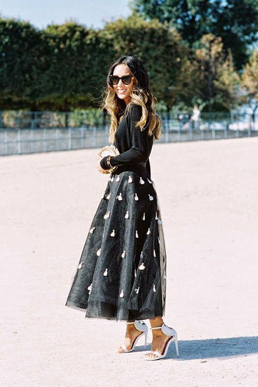 Chic in Black Street style Pinterest Falda, Ropa y Estilo