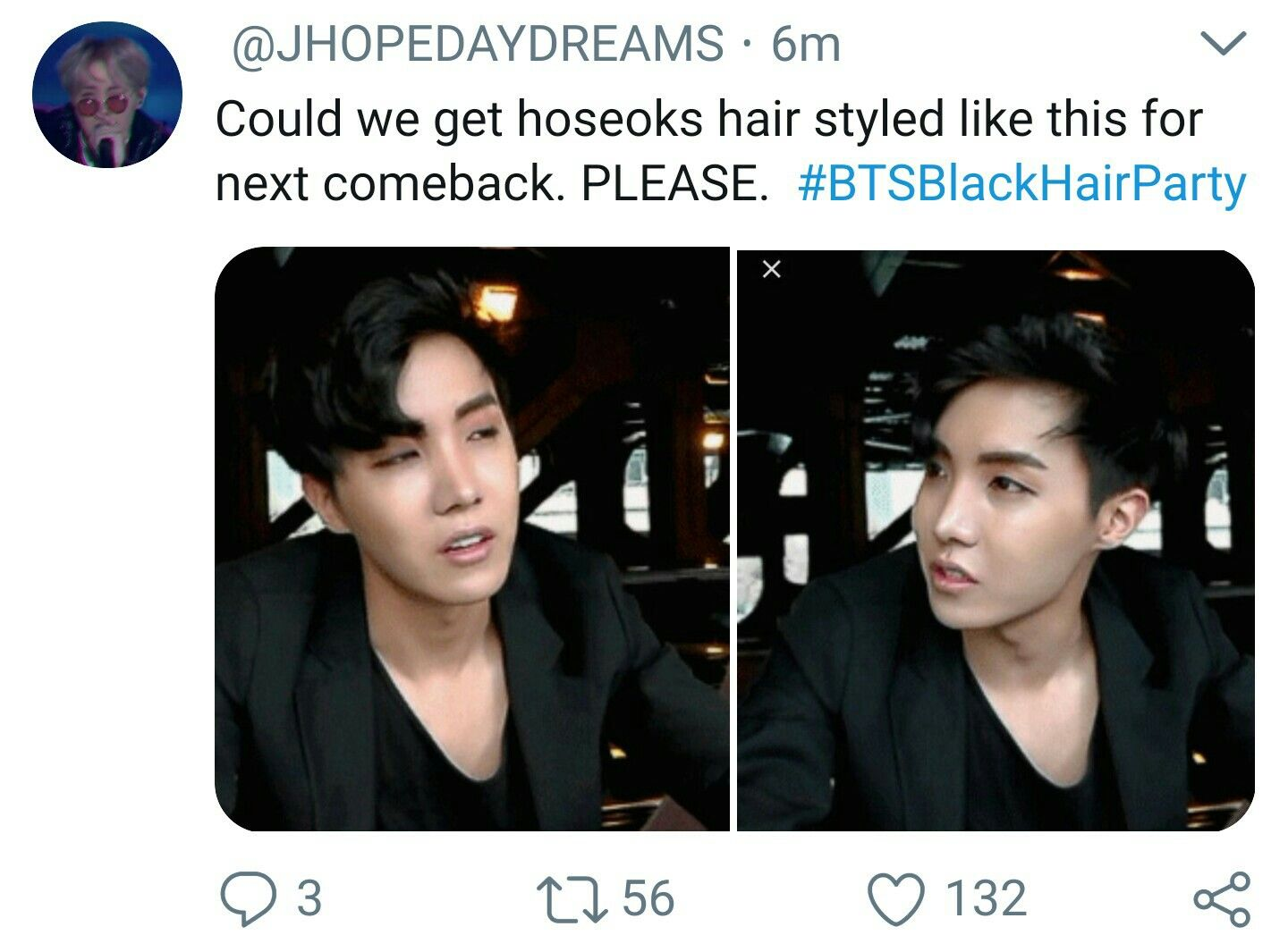 Hoseok With Black Hair And Exposed Forehead Can I Get An Amen Amen Hoseok Bts Bangtan Boy Hoseok Bts