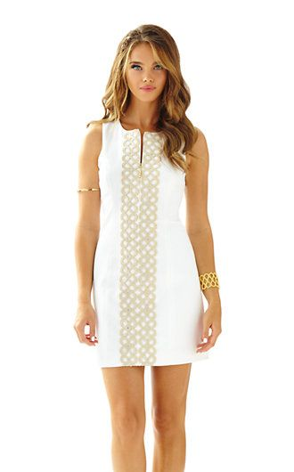 931c433afee0 Lilly Pulitzer Mila Gold Lace Shift Dress
