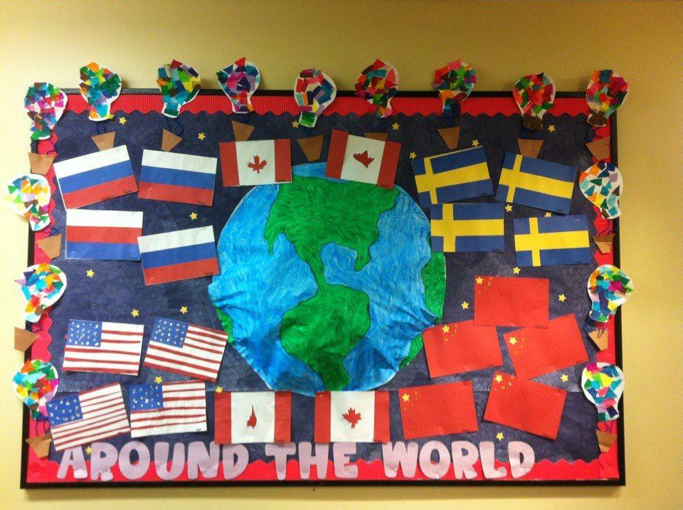 Flags Around The World Bulletin Board Around The World