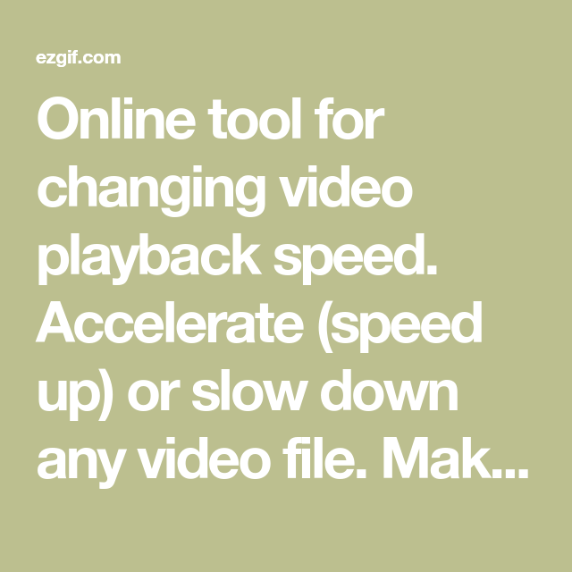 speed up video file