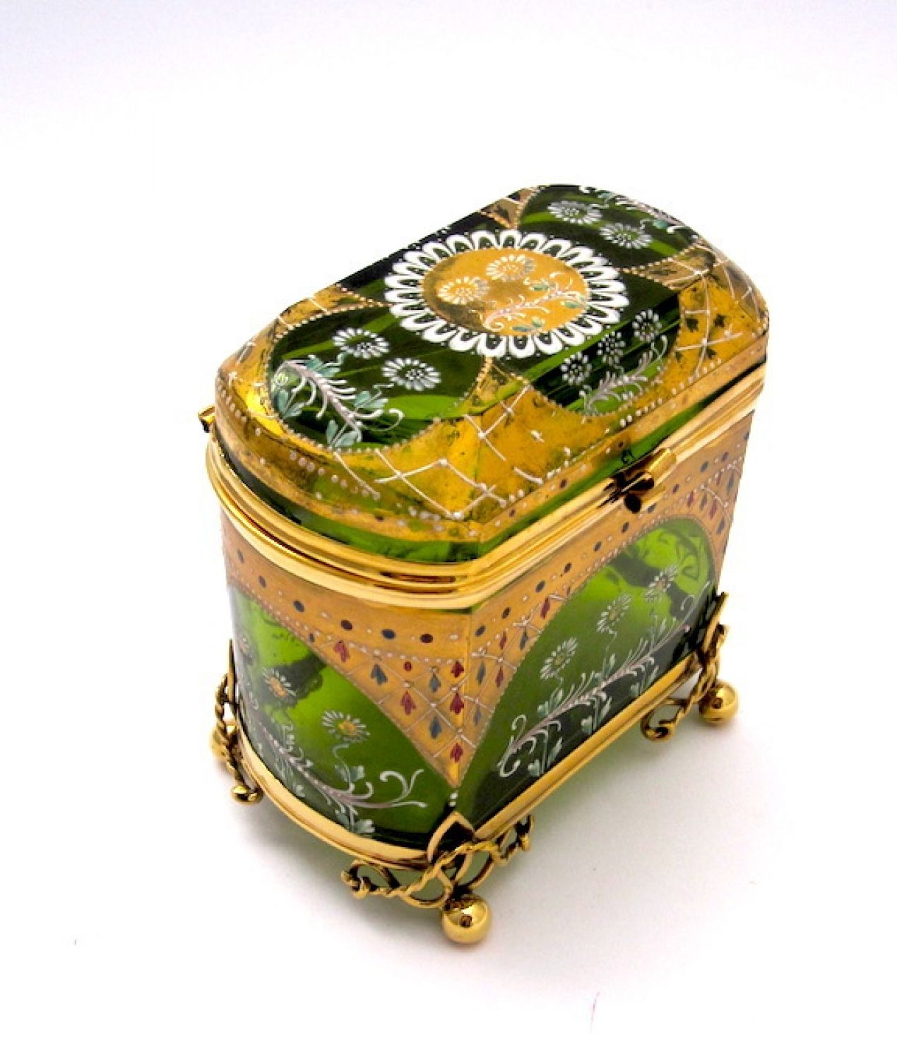 antique-bohemian-moser-glass-casket  | Boxes of all shapes