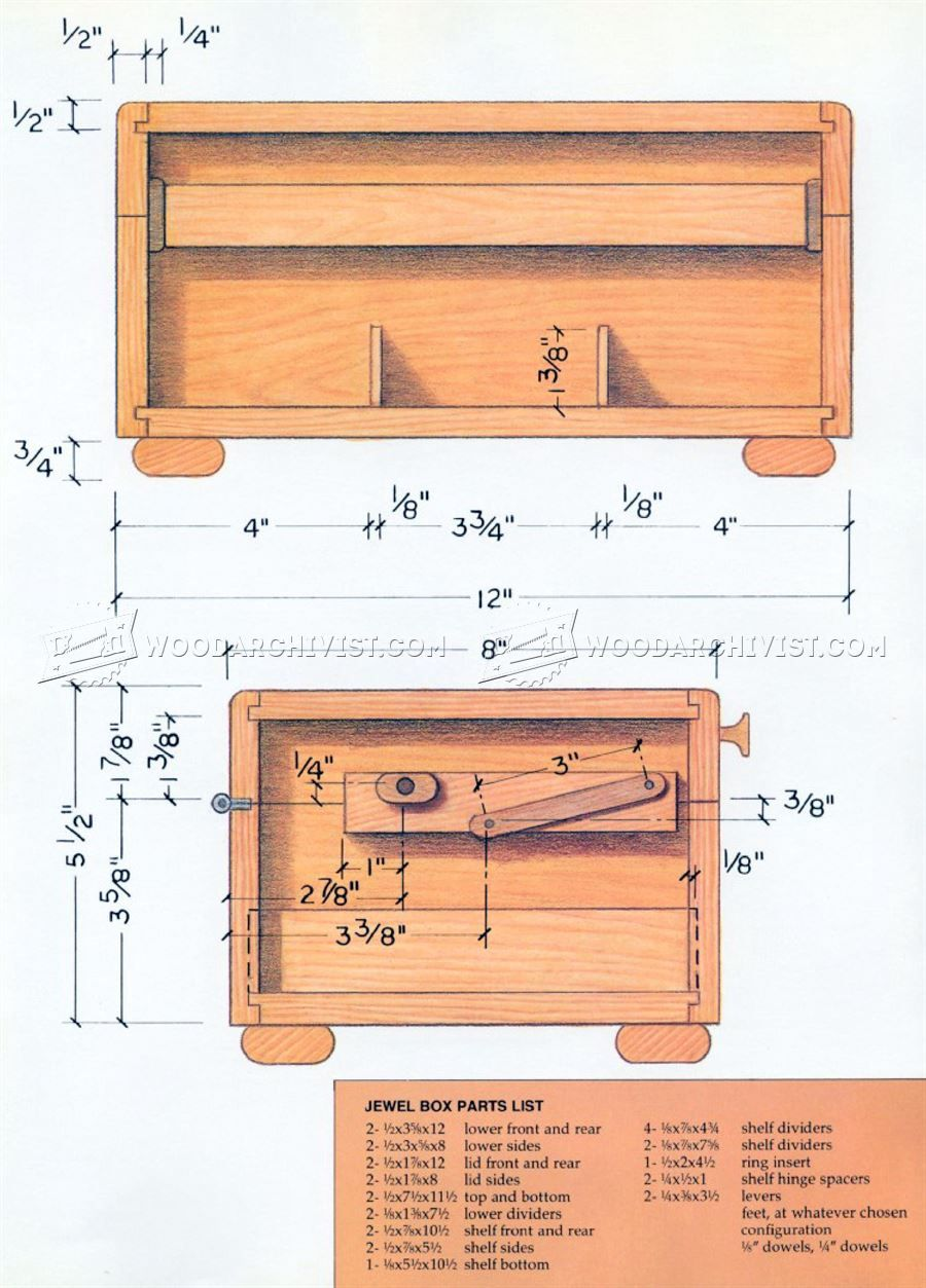 1436 Wooden Jewelry Box Plans Woodworking Plans Jewelry Box Plans Wooden Jewelry Boxes Small Woodworking Projects
