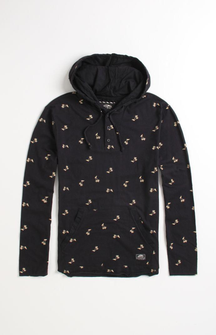 669db741 Vans Occulta Print Hooded Henly Shirt | #pacsunmens | Henley shirts ...