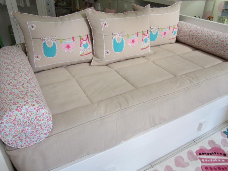 Tapiceria ribambelle tapiceria para cama nido compuesta de - Cojines grandes cama ...