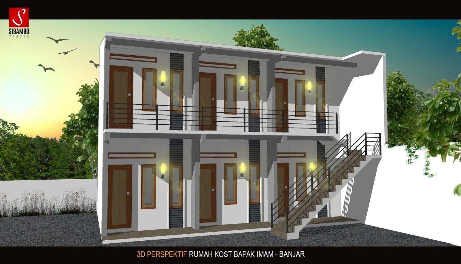 Desain Rumah Kost Minimalis 2 Lantai Dan Biaya Cek Bahan Bangunan