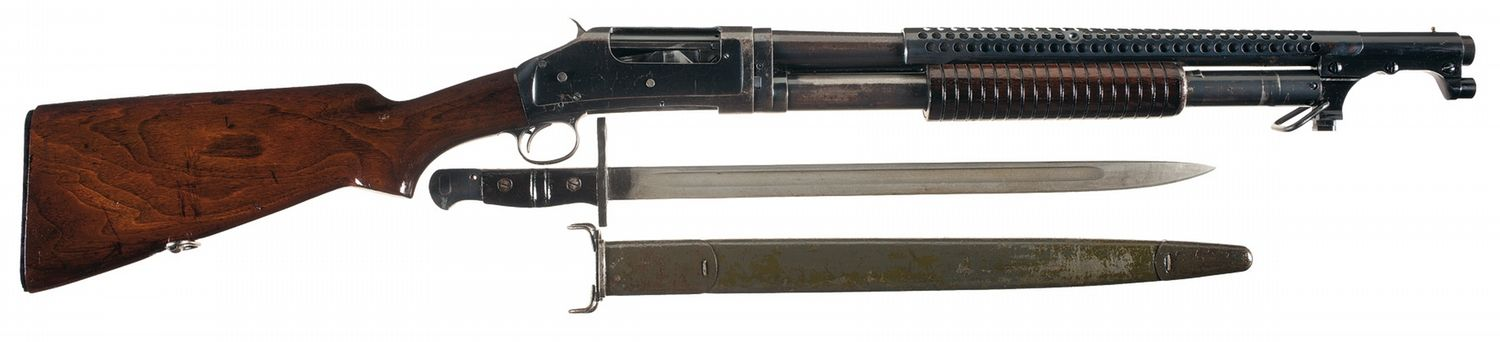 Image result for wwi trench warfare model 97 shotgun