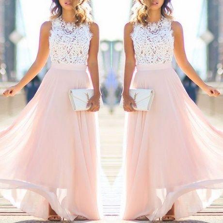 rosa kleid lang   lange kleider hochzeitsgast, schöne