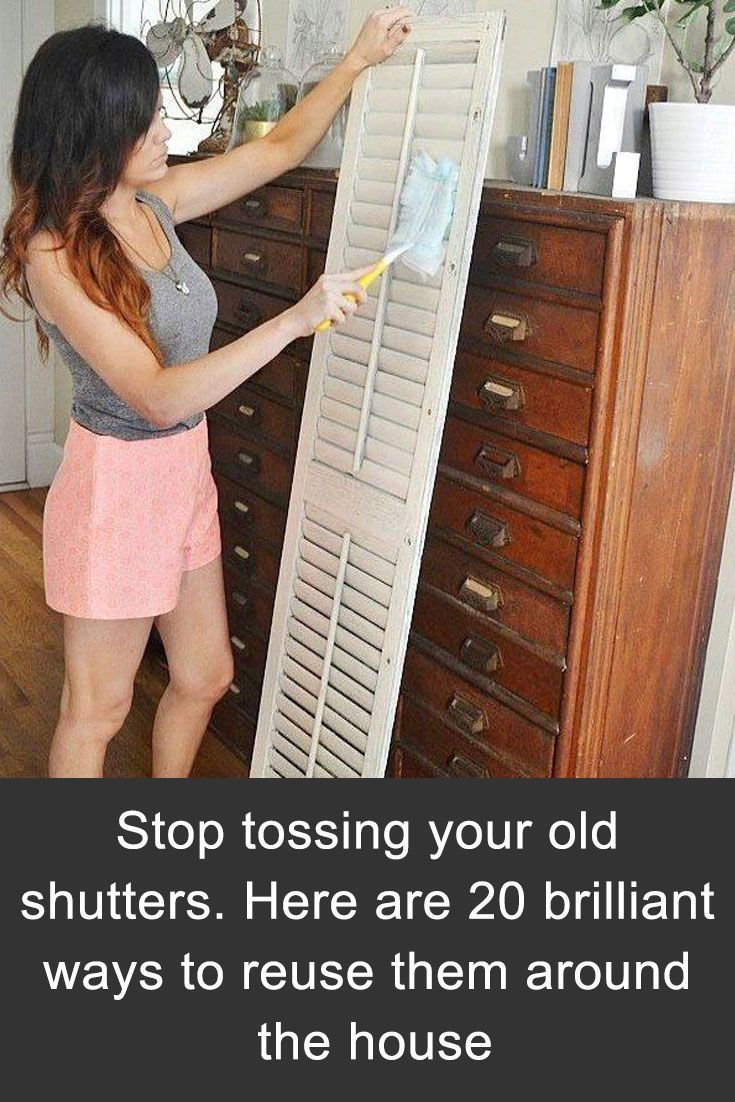 Stop tossing your old shutters. Here are 20 brilliant ways to reuse them around the house