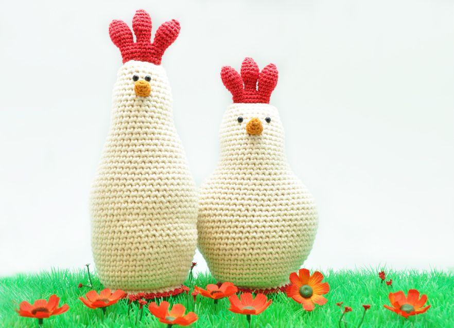 Haken voor Pasen: een gezellige kippenfamilie | Pinterest ...