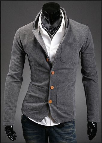 660f6984b700 Gender: Men Item Type: Blazers Clothing Length: Regular Closure Type: Single  Breasted Material: Cotton,Polyester Sleeve Length: Full Model Number:  700-X302 ...