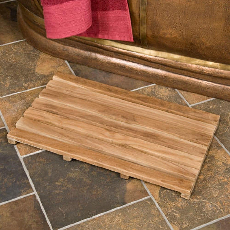 Bed Bath Beyond Teak Shower Mat | Bathroom Decor | Pinterest