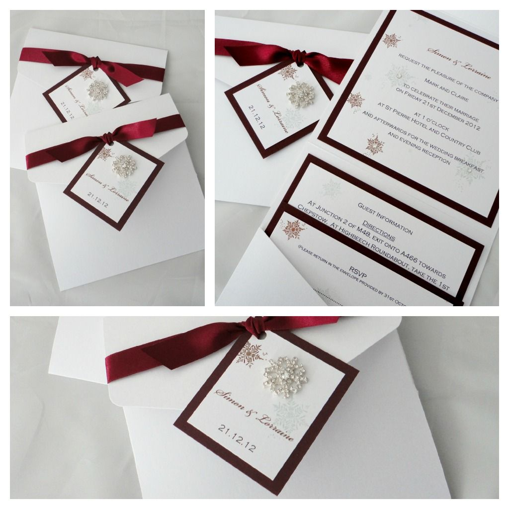 Snowflake wedding invitations | Meine Traumhochzeit | Pinterest ...