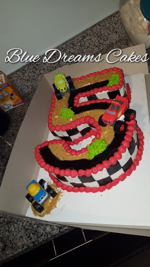 Blaze Number 5 Birthday Cake Blue Dreams Cakes Pinterest Dream