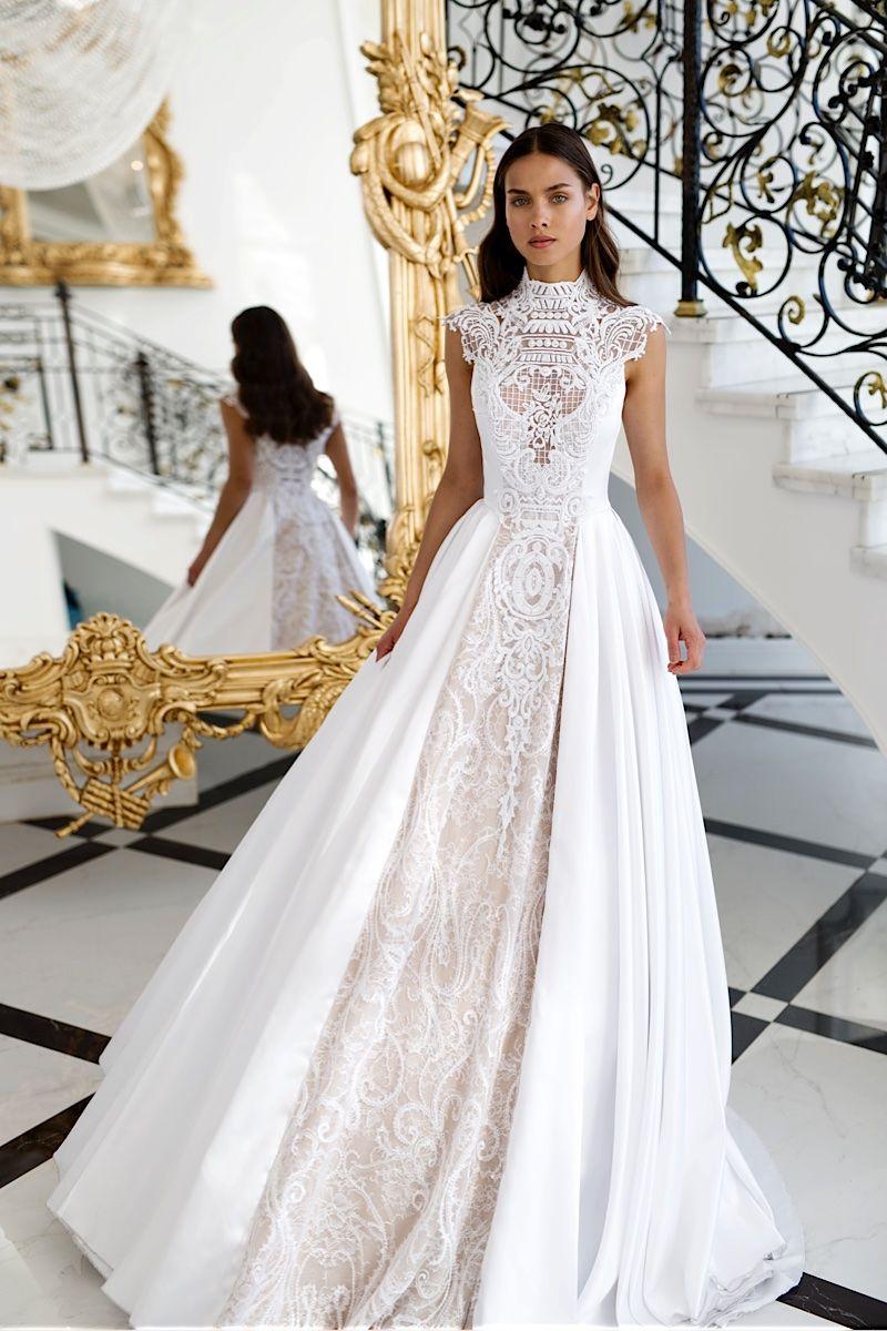 High neck wedding dresses  The stunning  Nurit Hen wedding dress collection  Pinterest