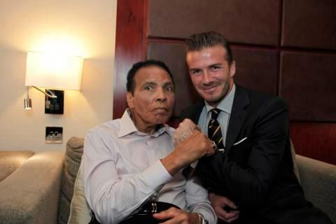 Two Legends ..... Muhammad Ali and David Beckham.