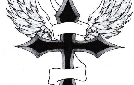 Cool Drawings Of Crosses With Wings | Things to Wear ...