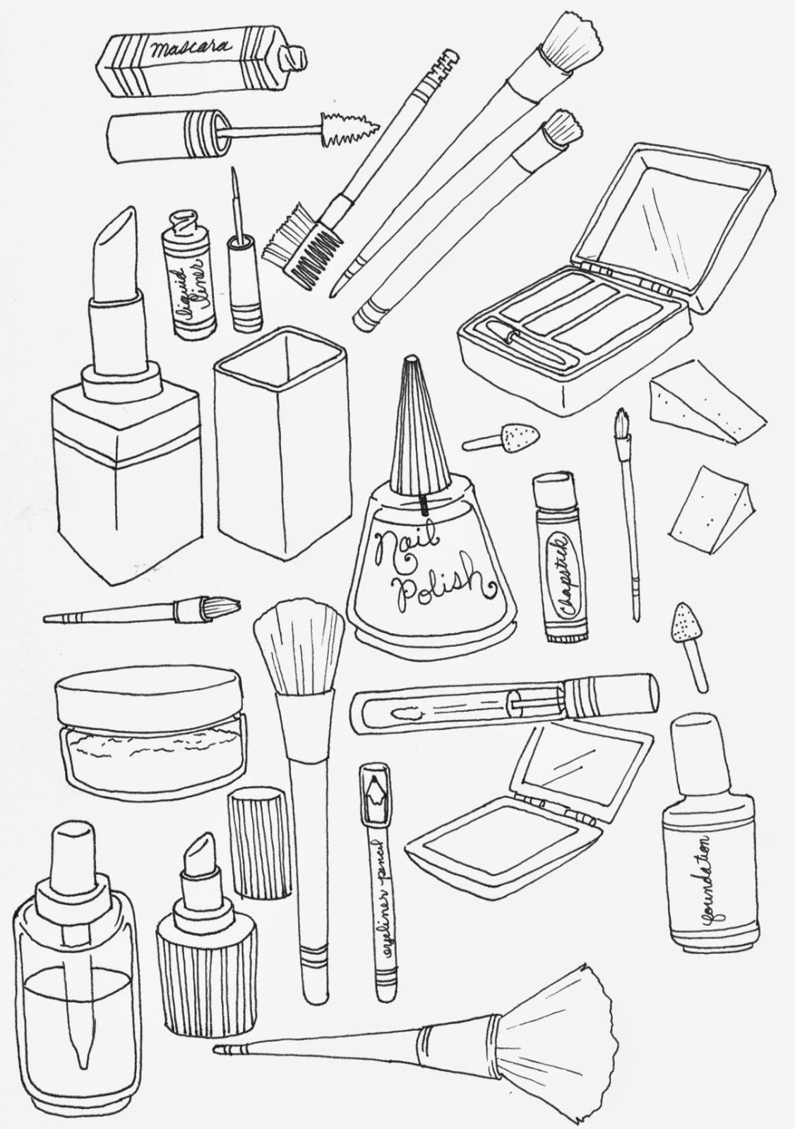 Print Free Technical Drawing Book Pdf Awesome Makeup Coloring Pages To And Print For Free In 2020 Coloring Books Coloring Pages Coloring Book Album