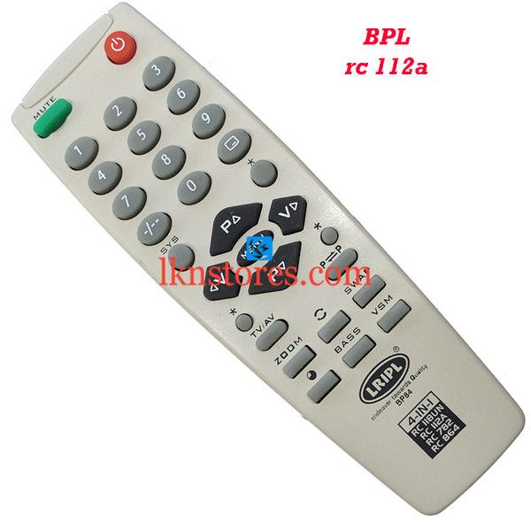 Buy remote suitable for BPL Tv Model: RC 112A at lowest price at LKNstores.com. Online's Prestigious buyers store.