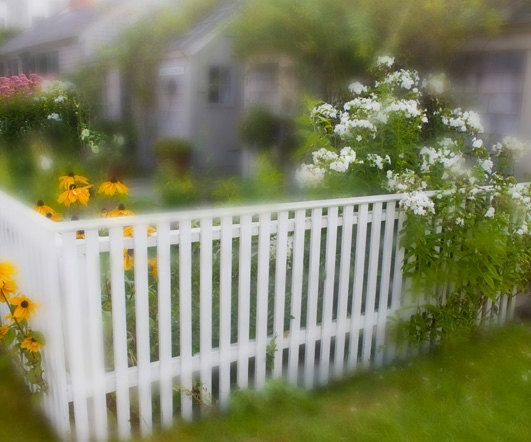 White Picket Fence Nantucket - 5x7 Print  Wall Art, $15.00 #newengland #fence #fencephotography
