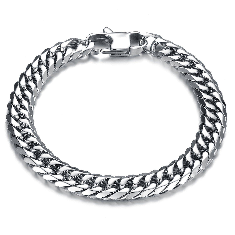 Girl era mens handsome titanium steel bombay mesh bracelet charm