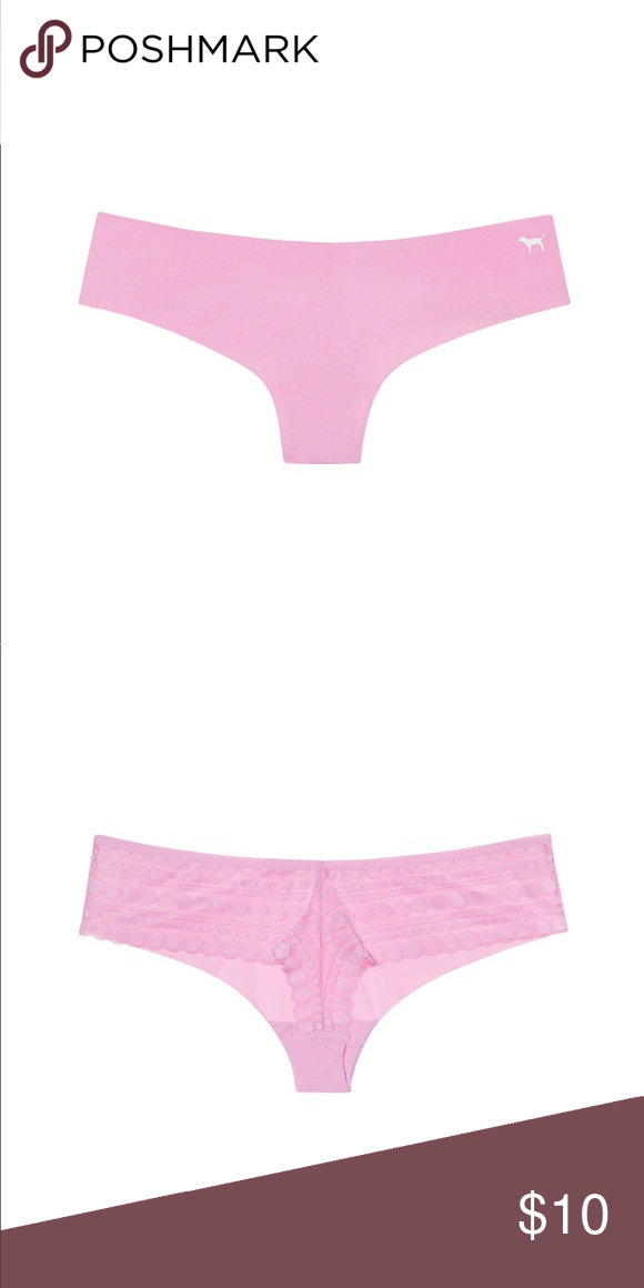 0d5ffd16e6d VS PINK Lace Back No-Show Thong - Size M NWT VS PINK Lace Back