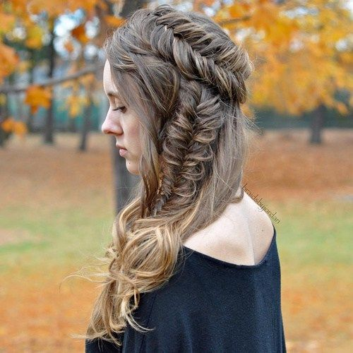 Fishtail Braid Hairstyles Alluring 40 Awesome Jazzed Up Fishtail Braid Hairstyles  Side Braid