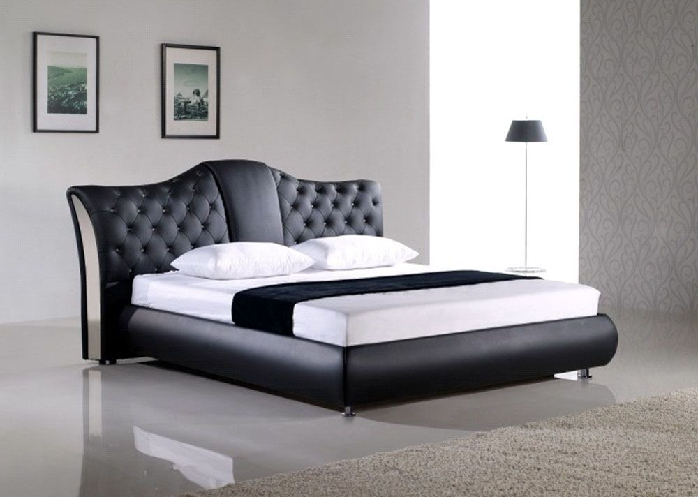 Beds Design exclusive leather high end platform bed plano texas [330eoe
