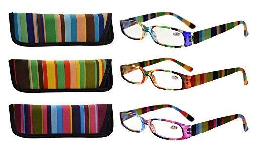 c7cf0db477d Eyekepper 3 Pack Ladies Reading Glasses for Women Smaller Readers + ...