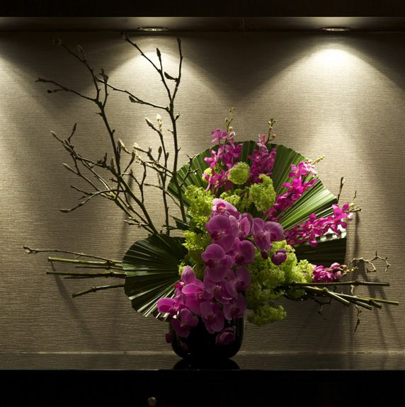 Oriental: In house corporate event, Berkely Square | Floral designs for a corporate event with a Japanese VIP guest list.