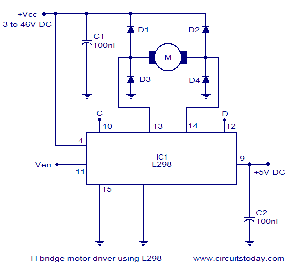 Circuit Diagram Likewise H Bridge Motor Driver Schematic Also Dc