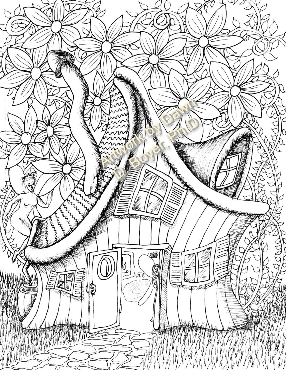 fairy houses and fairy doors vol 3 and 4 individual coloring pagesfairy houses and fairy doors