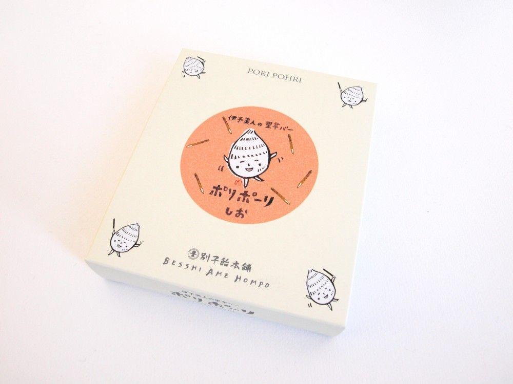 愛媛のお土産老舗飴屋さんが作る里芋のお菓子ポリポーリ