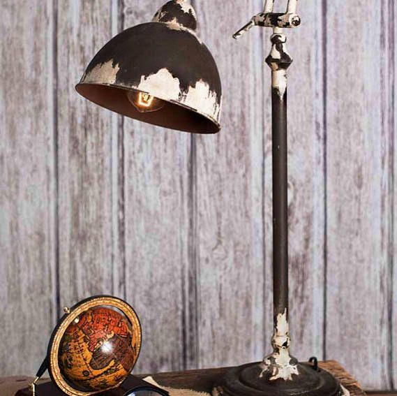 Rustic industrial table lamp log cabin pinterest industrial rustic industrial table lamp mozeypictures Image collections