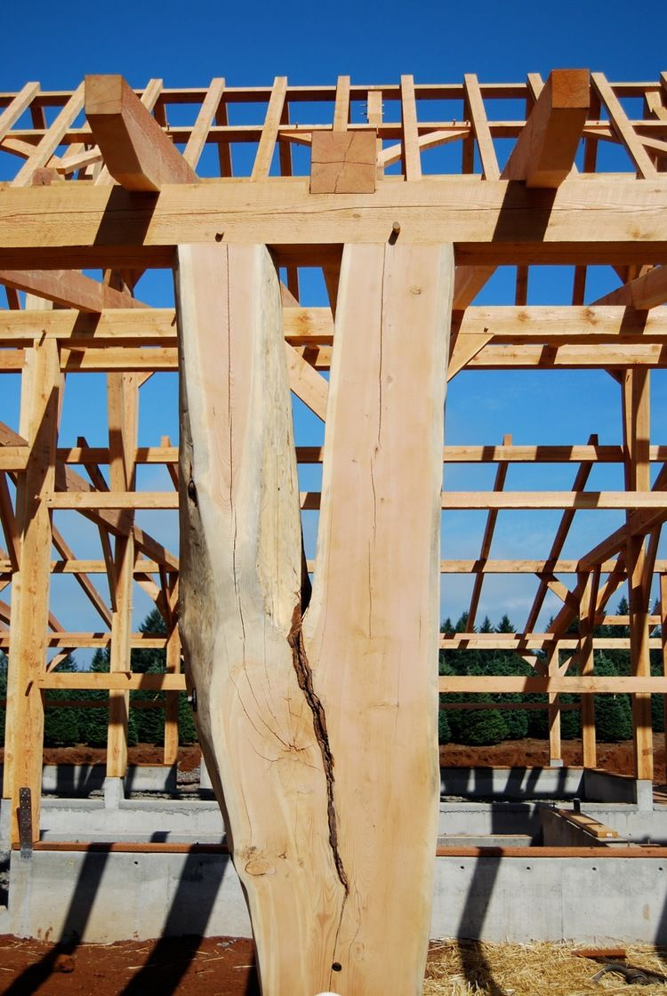 Oregon Cruck Barn — Collin Beggs Design Build Timber Framing