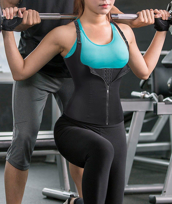 67084aca7f679 Deago Women Body Shaper Slimming Waist Trainer Cincher Underbust Corset  Shapewear Vest Size S. Waist Trainer Corset For Weight Loss Eliminates  muffin top ...