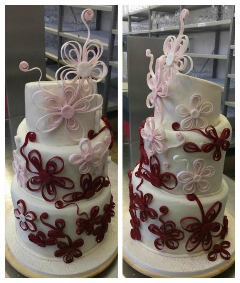 Quilled cake by Anka