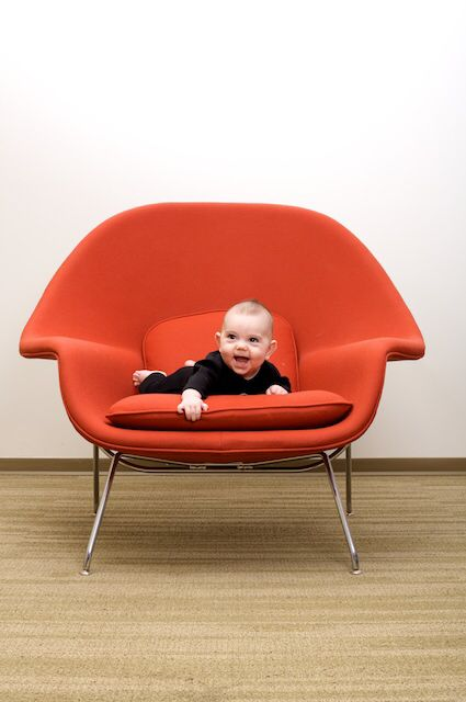 Saarinen's womb chair fits everyone...