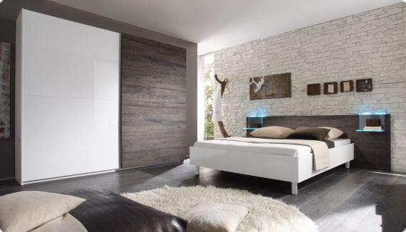 Schlafzimmer weiss Hochglanz Lack Eiche wenge Tambio1 Wohnen - schlafzimmer weiss hochglanz