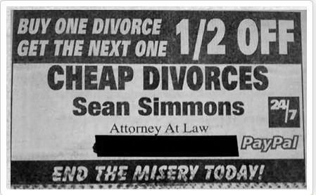 Divorce Cheap Divorce Marriage Humor Lawyer Jokes