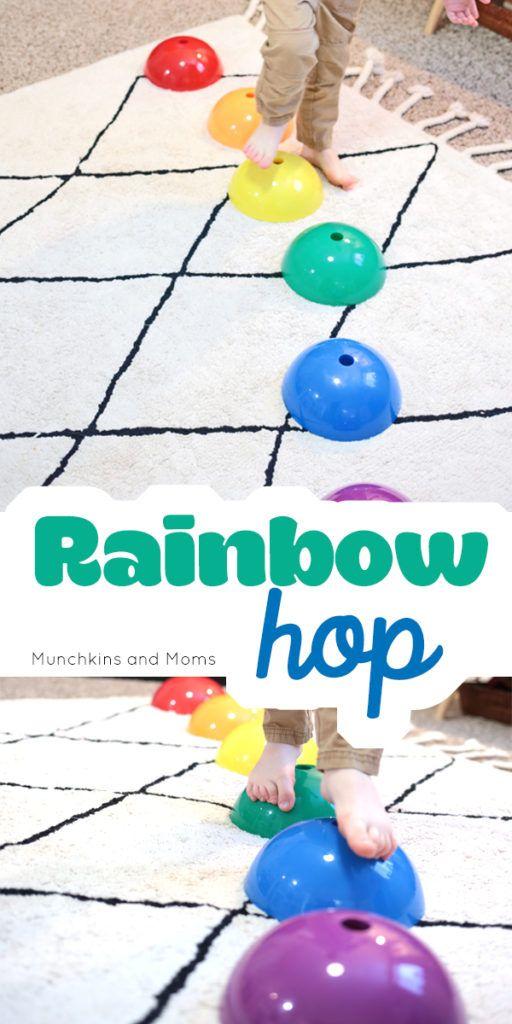 Rainbow Hop | Gross Motor Activities | Preschool movement