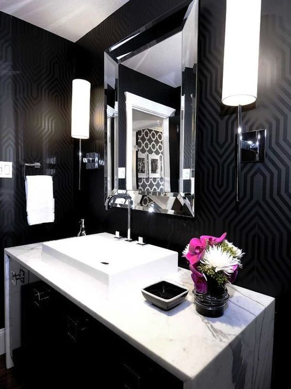 Old Hollywood Glamour Bathroom Decor
