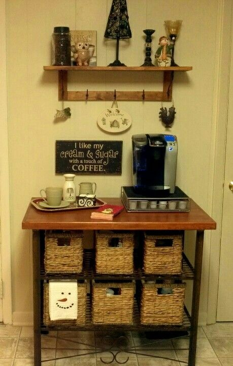 Coffee Bar Great Addition To Your Coffee Station Helps Keep The Coffee Mess Down And Will Contain Any Overflow From Your Coffee Ma Coffee Bar Home Home Coffee Stations Kitchen